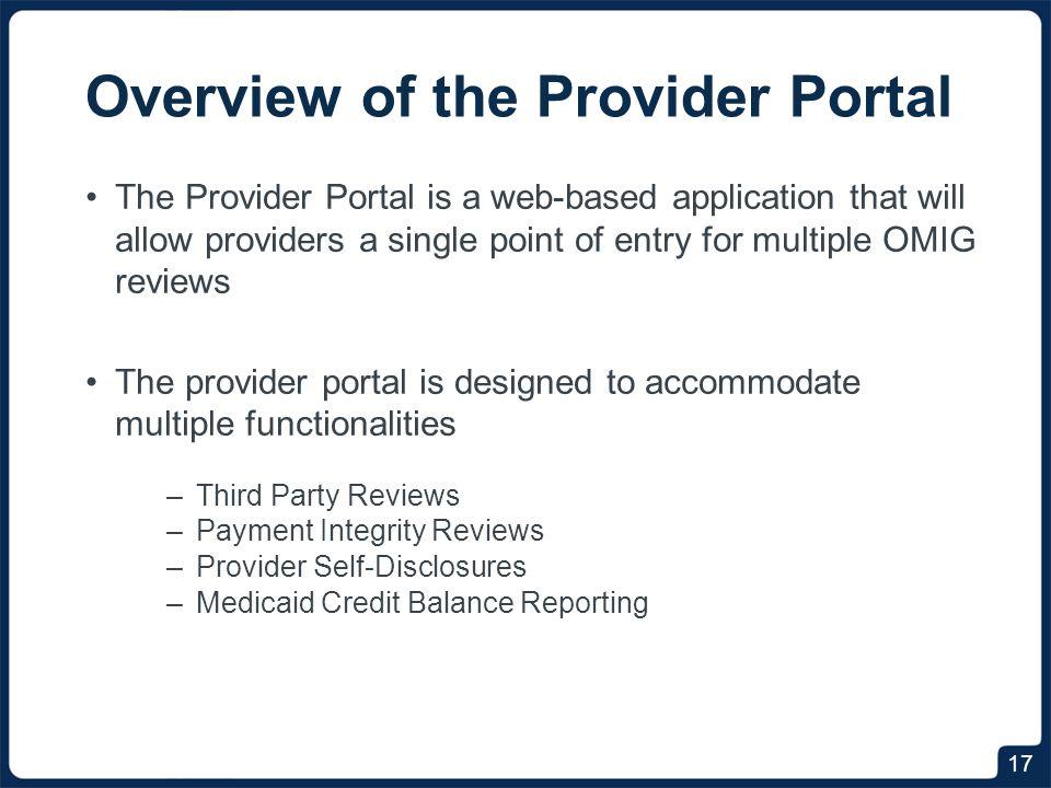 Accessing The Provider Portal