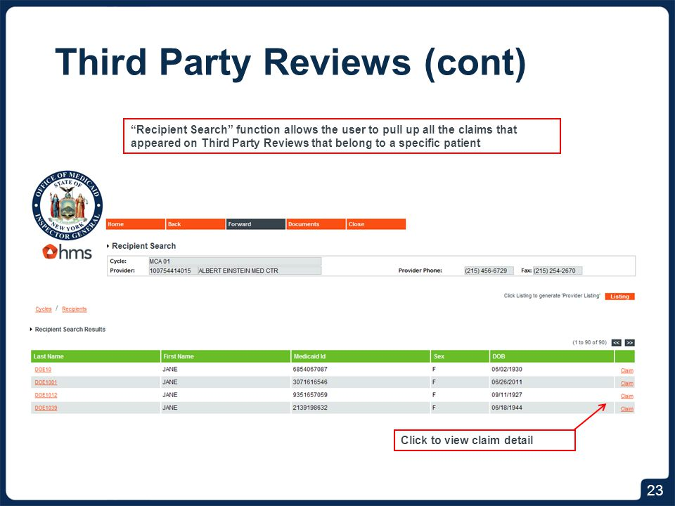 Third Party Reviews (cont)