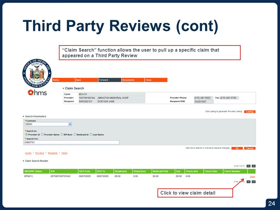 Responding to Third Party Reviews (cont)