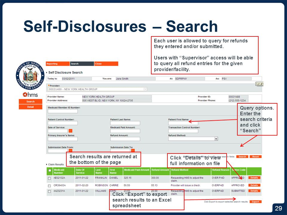 Self-Disclosures – Attestation