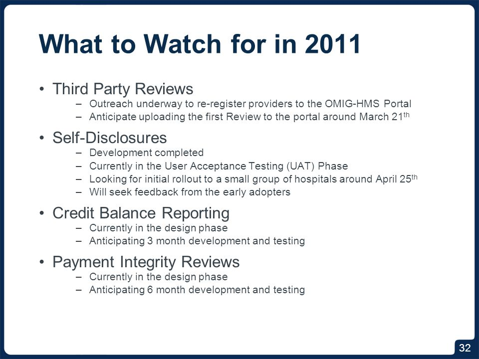 Timeline March 21, 2011 Third Party Reviews