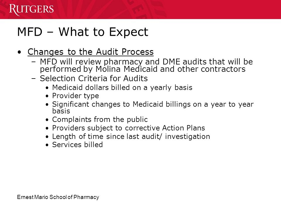 MFD – What to Expect Changes to the Audit Process