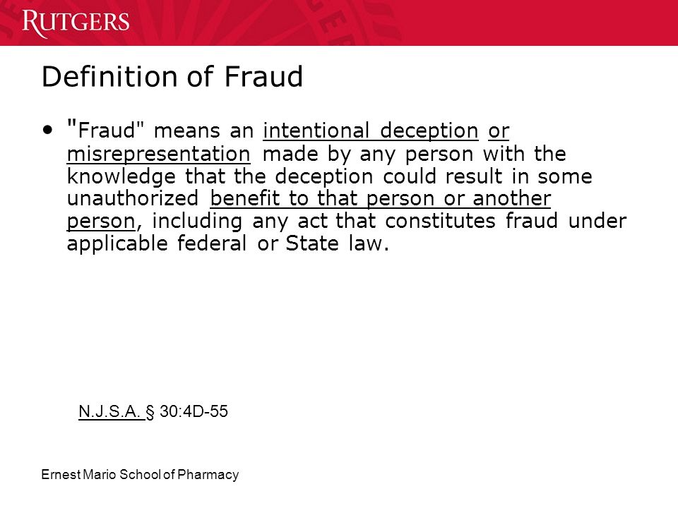 Definition of Fraud