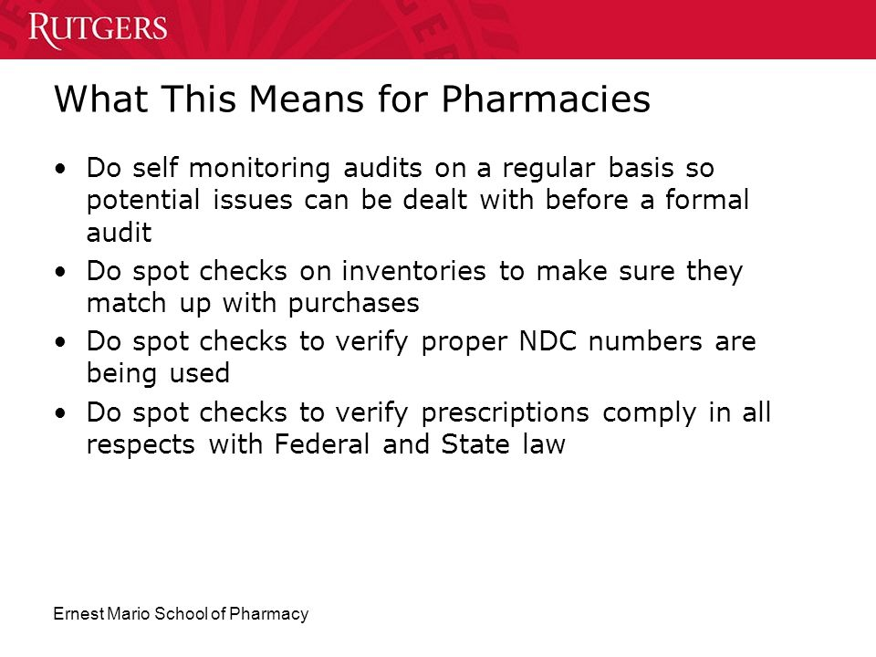 What This Means for Pharmacies