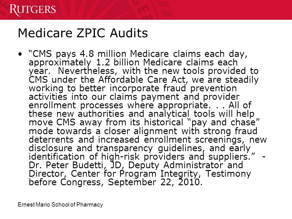 Medicare ZPIC Audits