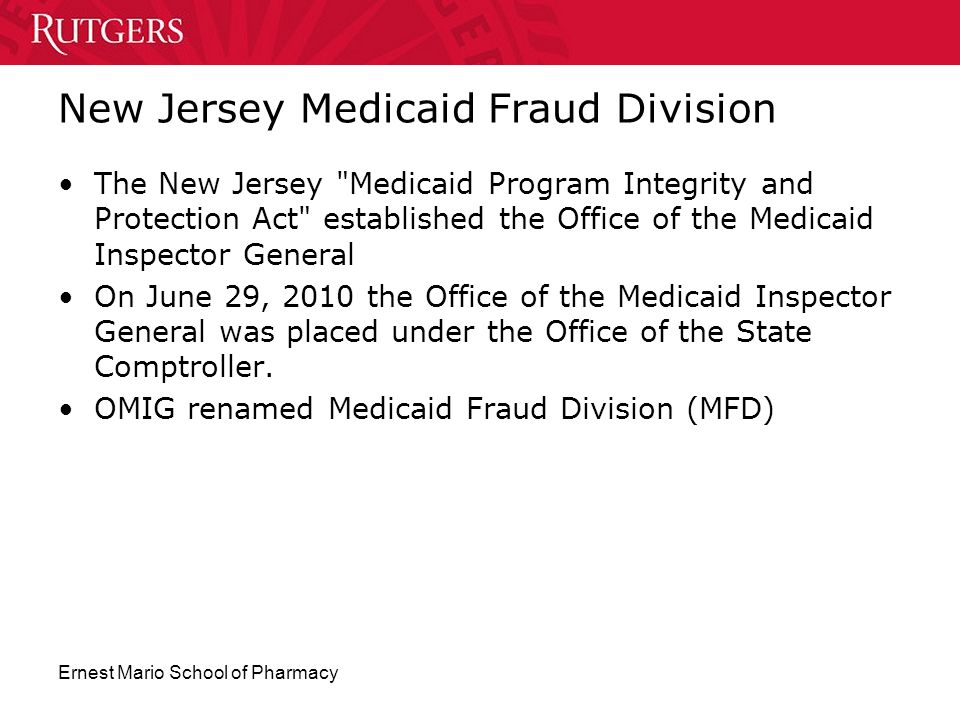 New Jersey Medicaid Fraud Division