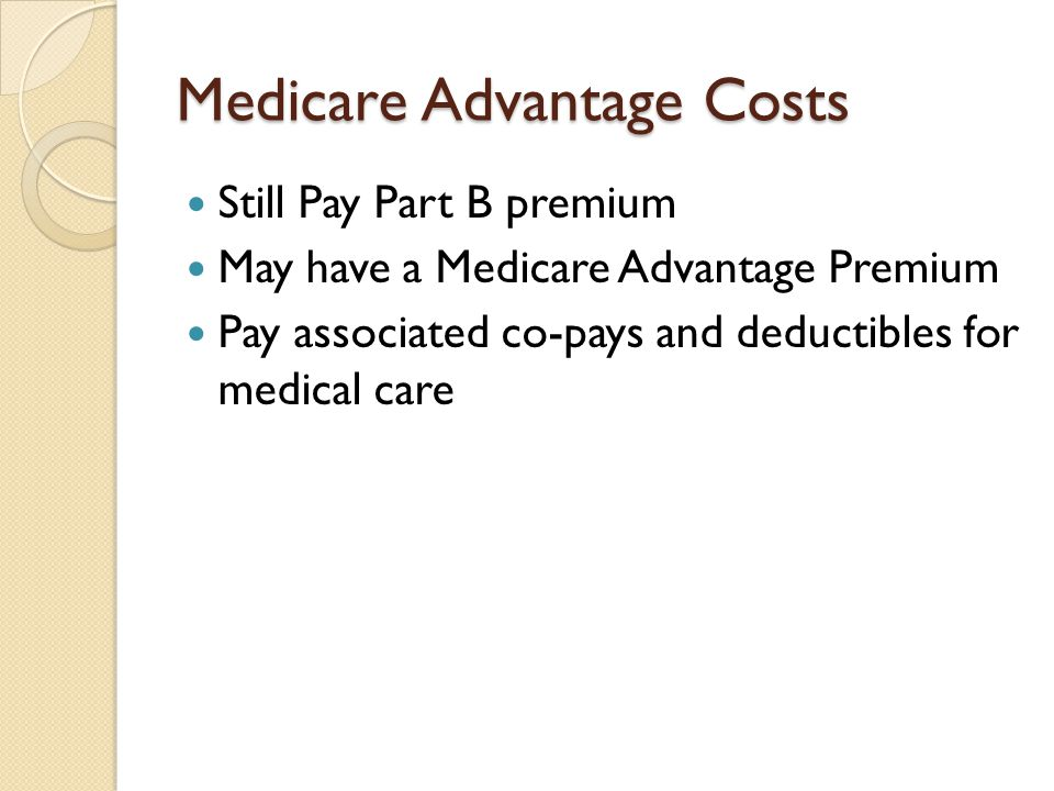 Medicare Advantage Costs