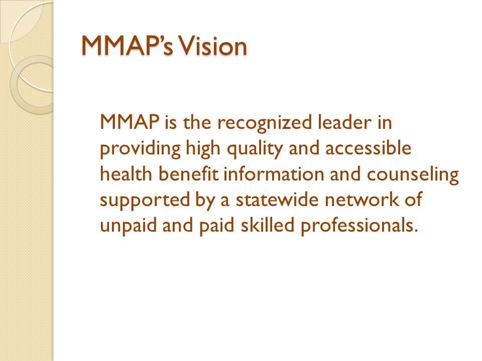 MMAP's Vision