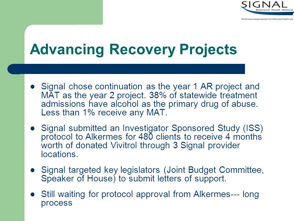Advancing Recovery Projects