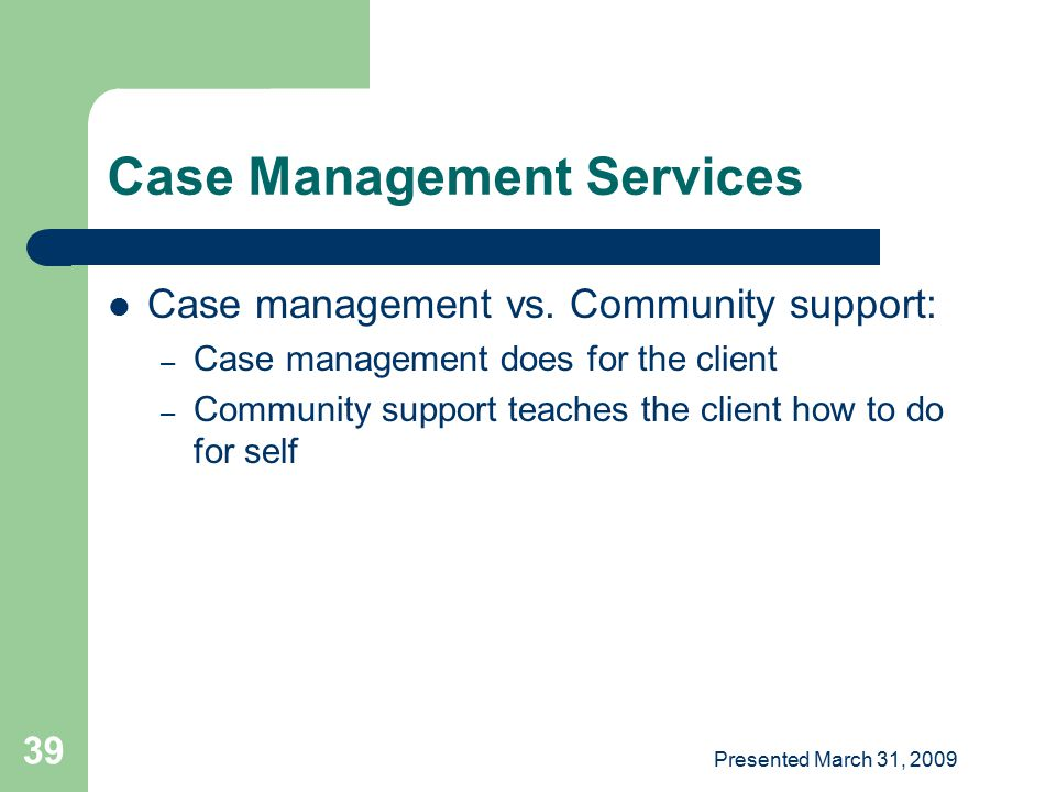 Case Management Services