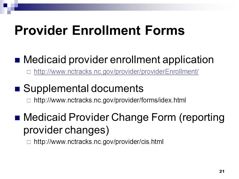 Provider Enrollment Forms