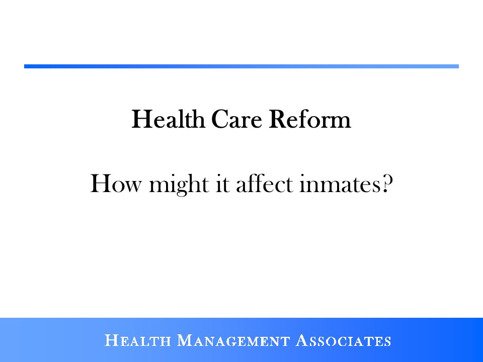 How might it affect inmates