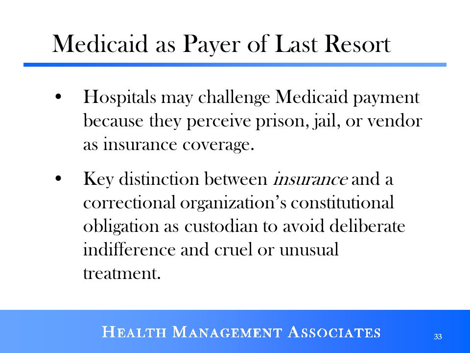 Medicaid as Payer of Last Resort
