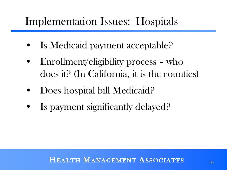 Implementation Issues: Hospitals