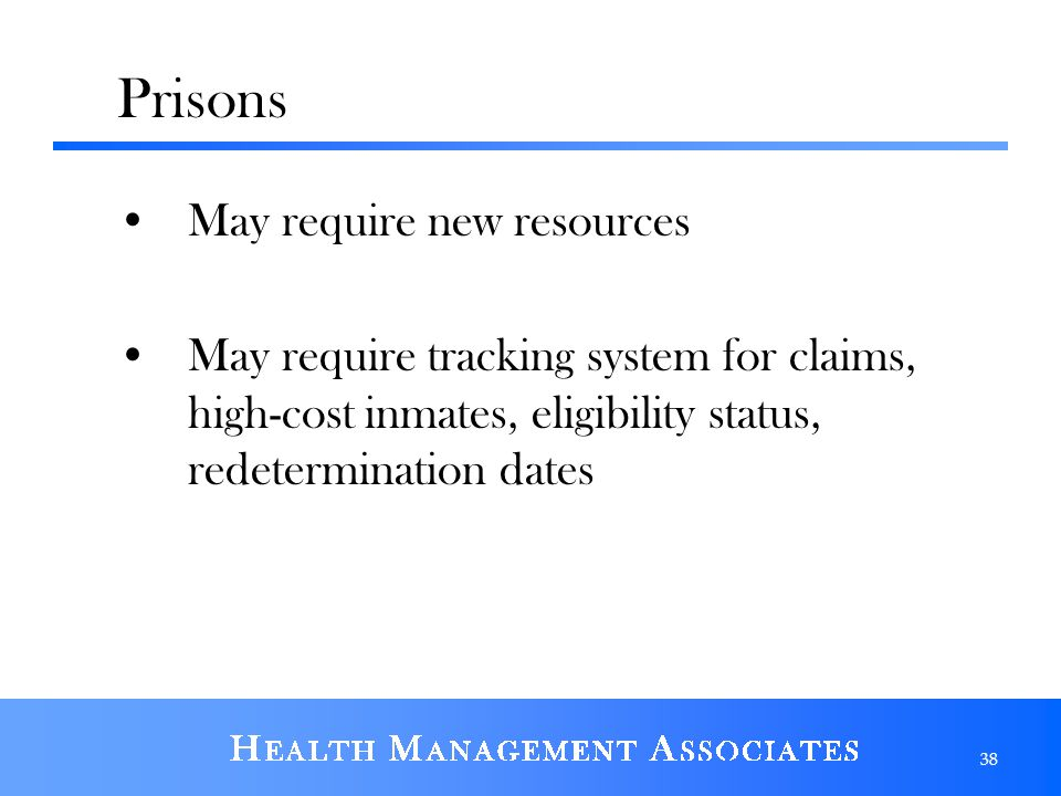 Prisons May require new resources