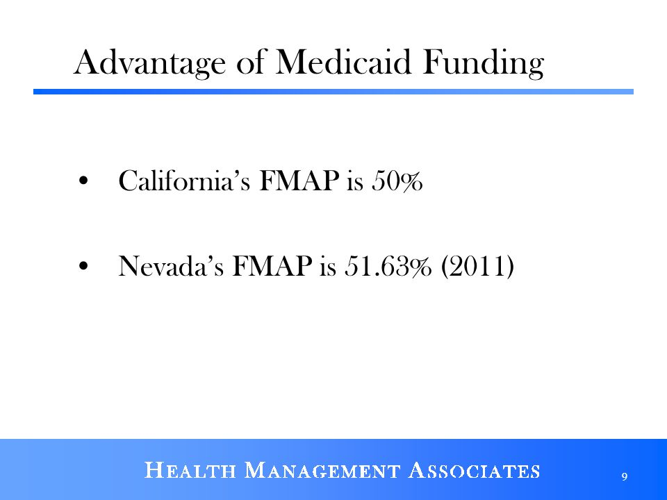 Advantage of Medicaid Funding