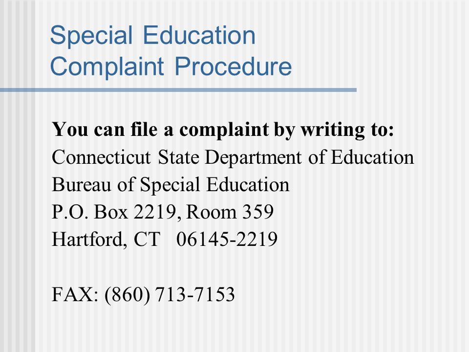 Special Education Complaint Procedure