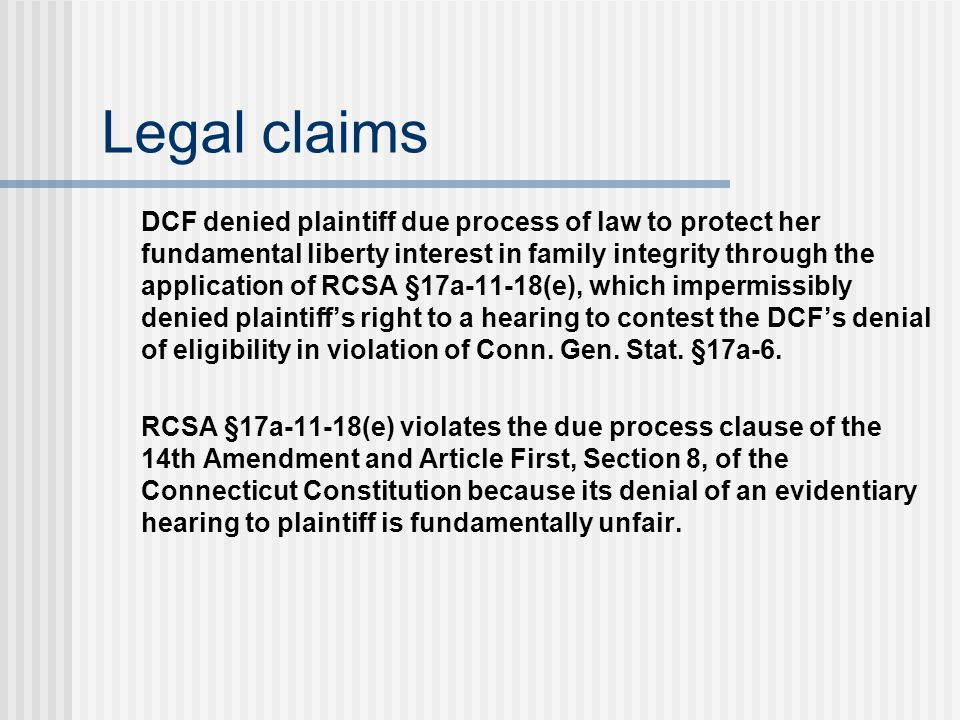 Legal claims