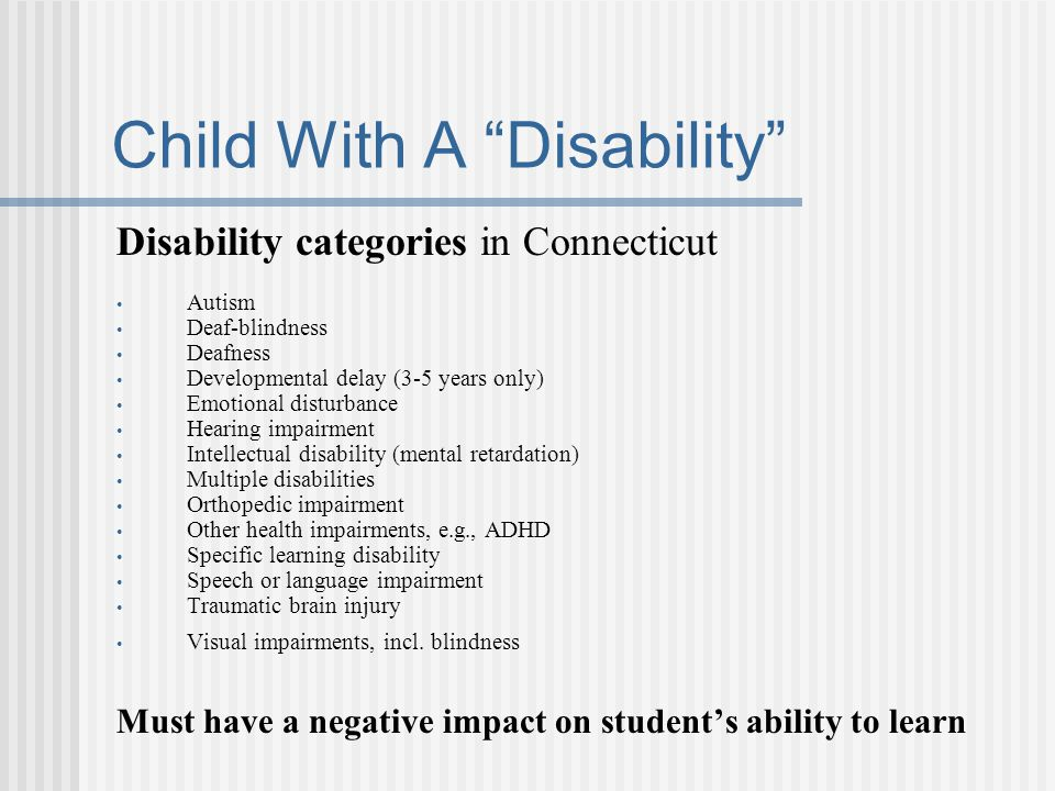 Child With A Disability