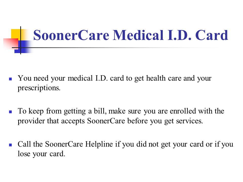 SoonerCare Medical I.D. Card
