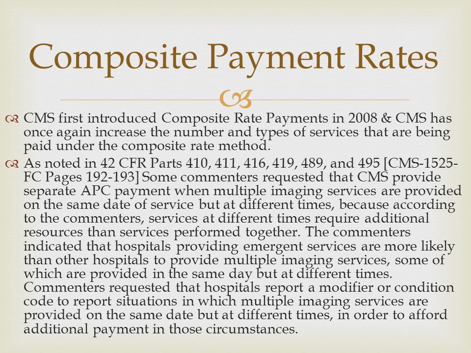 Composite Payment Rates