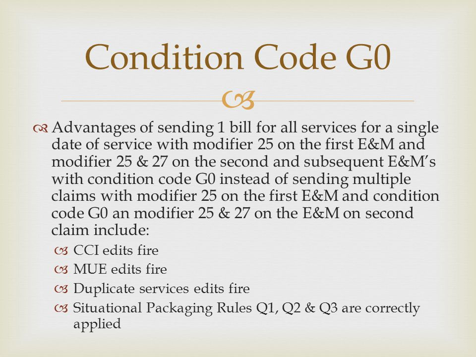 Condition Code G0