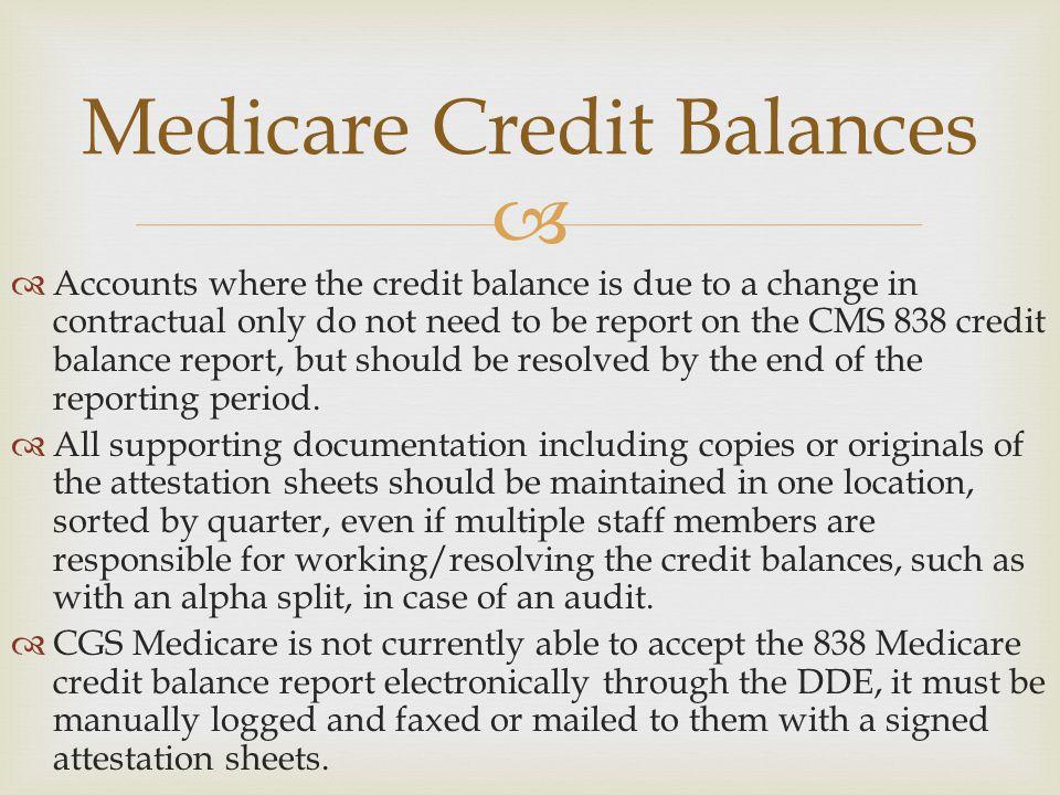 Medicare Credit Balances