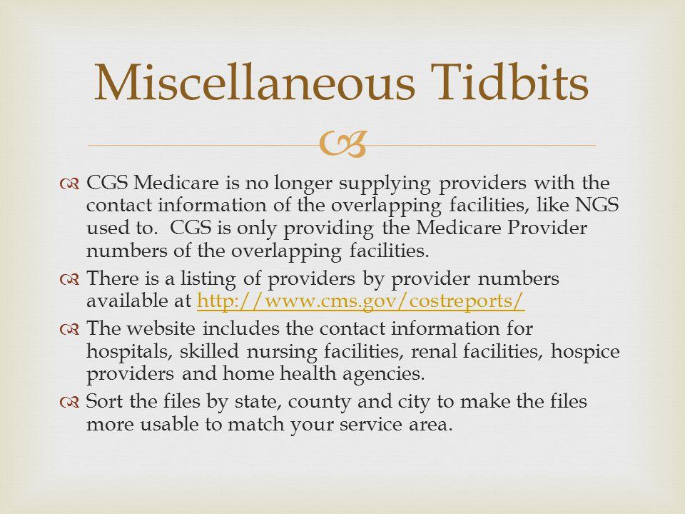 Miscellaneous Tidbits