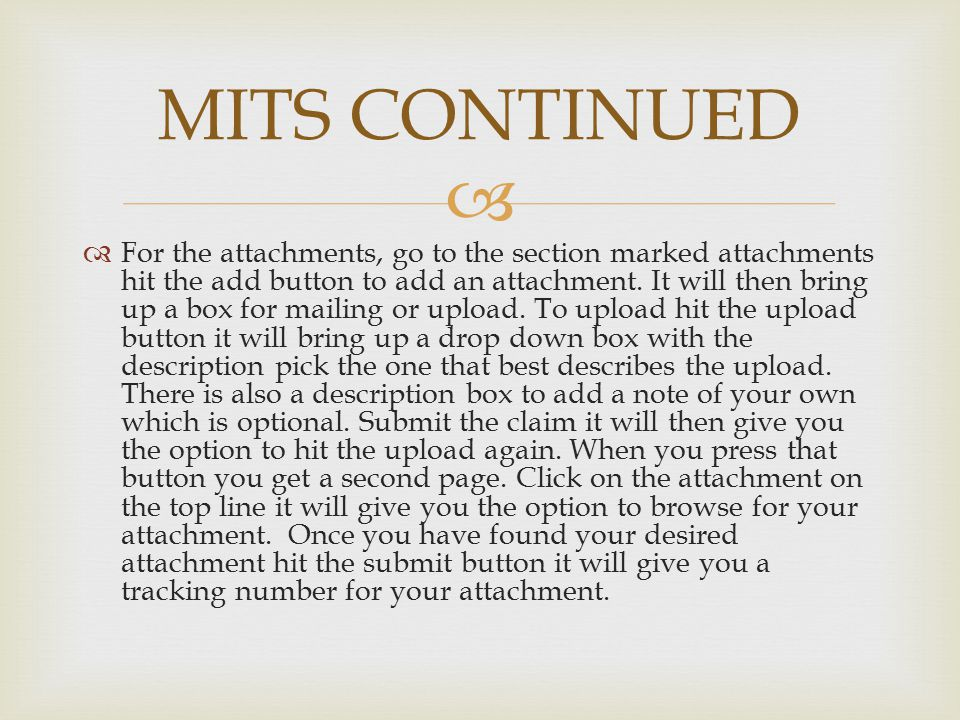 MITS CONTINUED