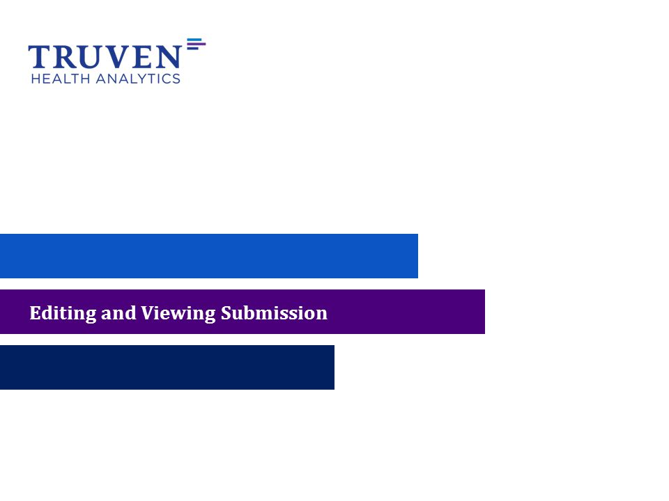 Editing and Viewing Submission