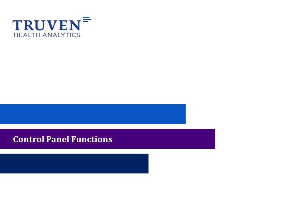 Control Panel Functions