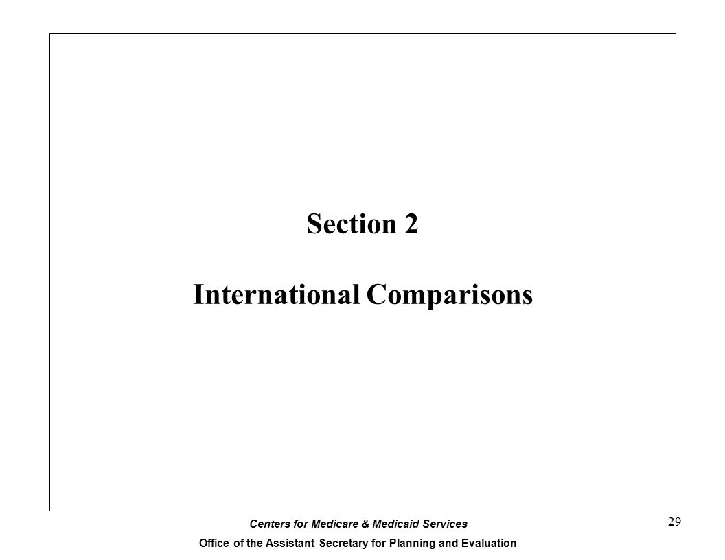 Section 2 International Comparisons