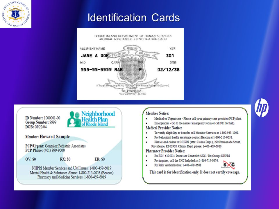 Recipient Identification and Eligibility