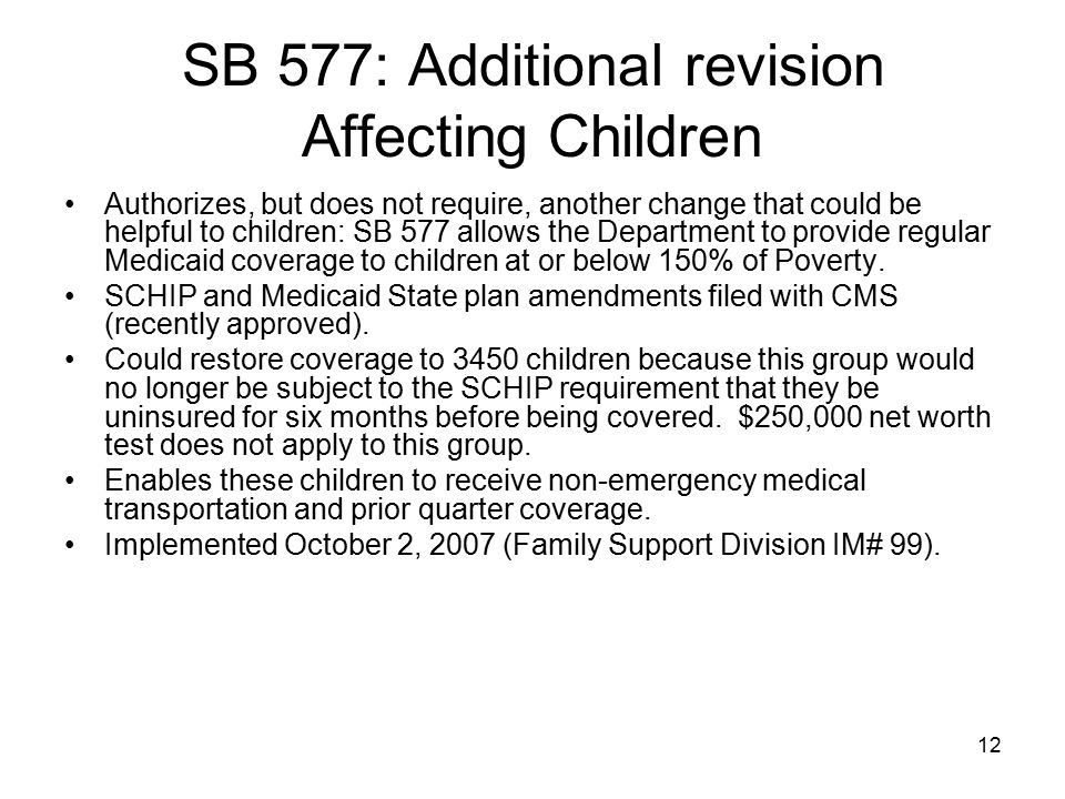SB 577: Additional revision Affecting Children