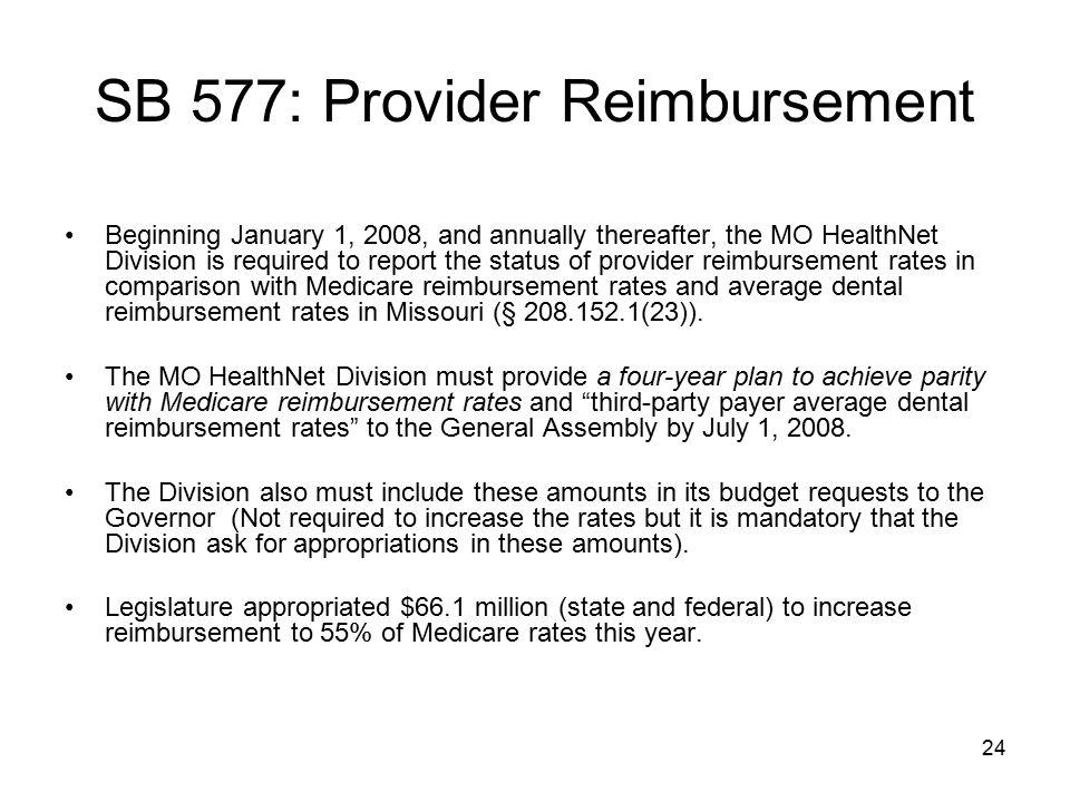 SB 577: Provider Reimbursement
