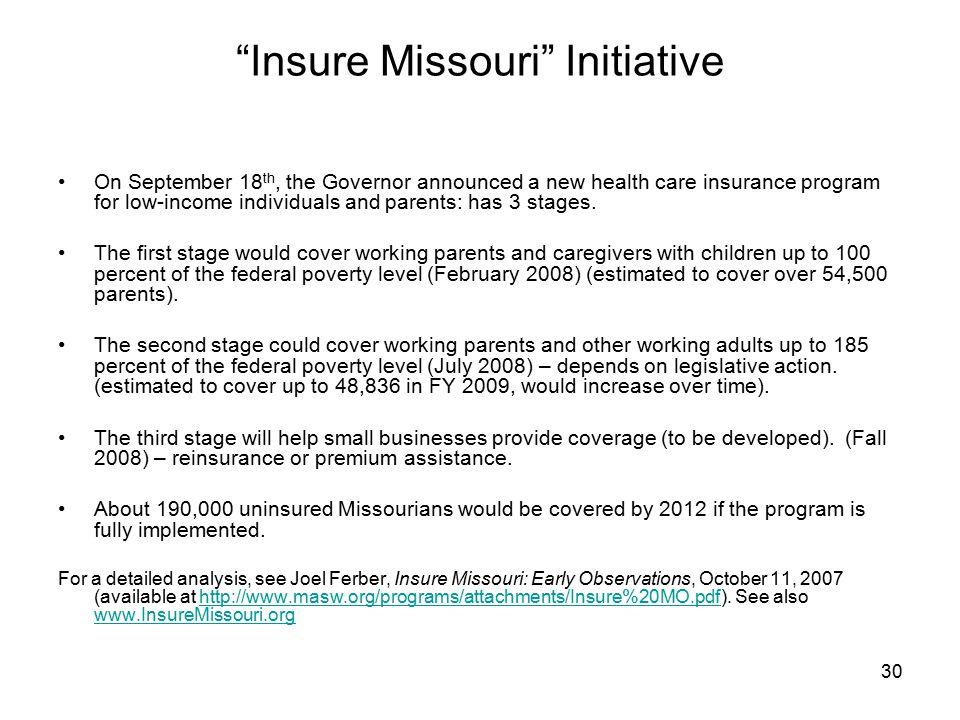 Insure Missouri Initiative