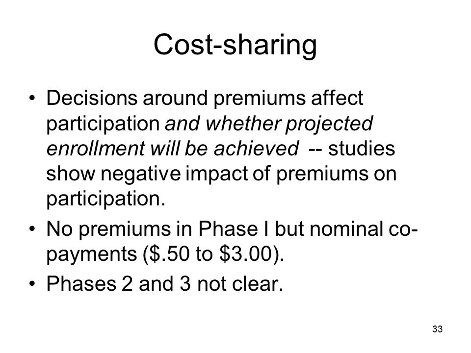 Cost-sharing