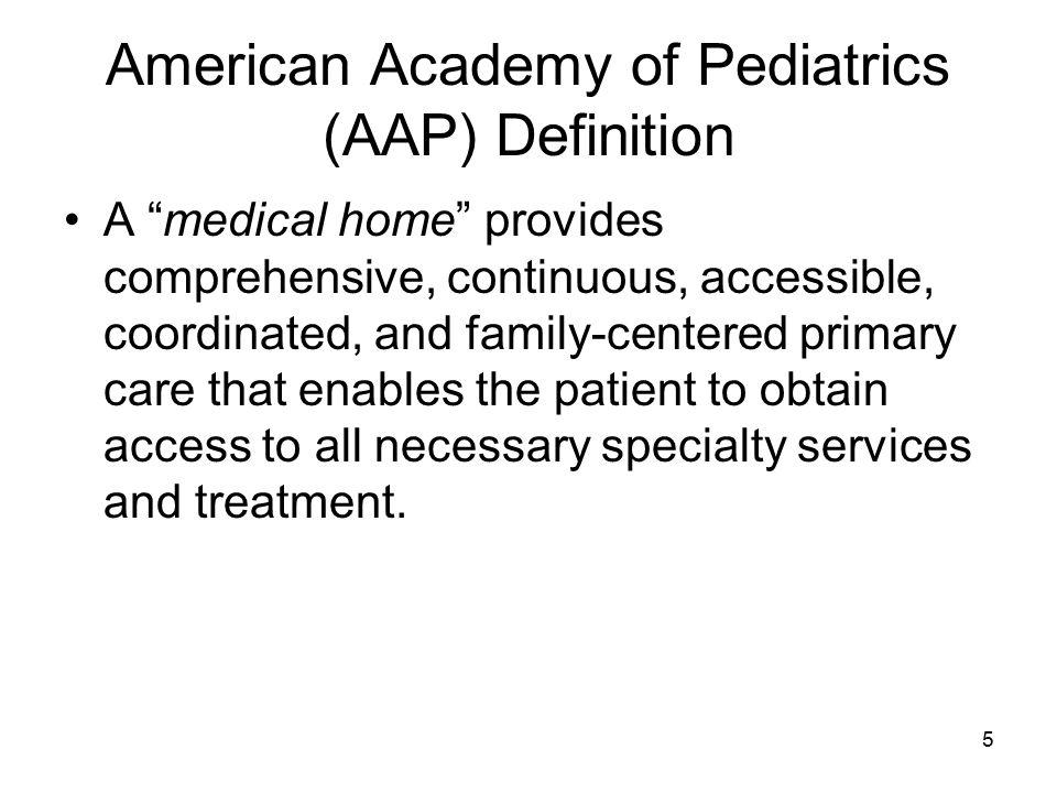 American Academy of Pediatrics (AAP) Definition