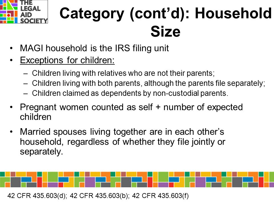 Category (cont'd): Household Size