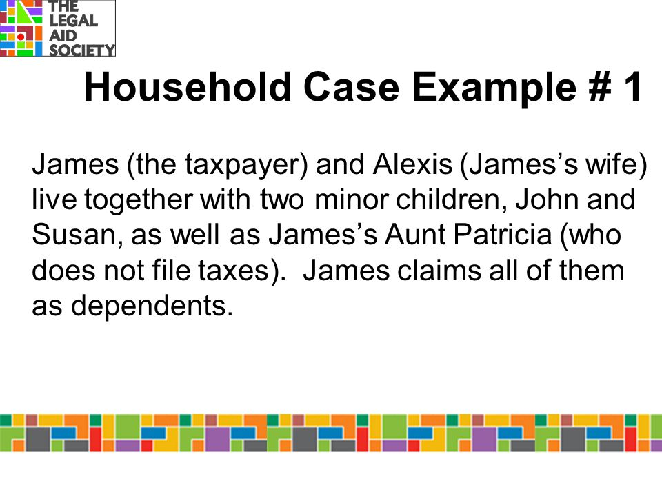 Household Case Example # 1