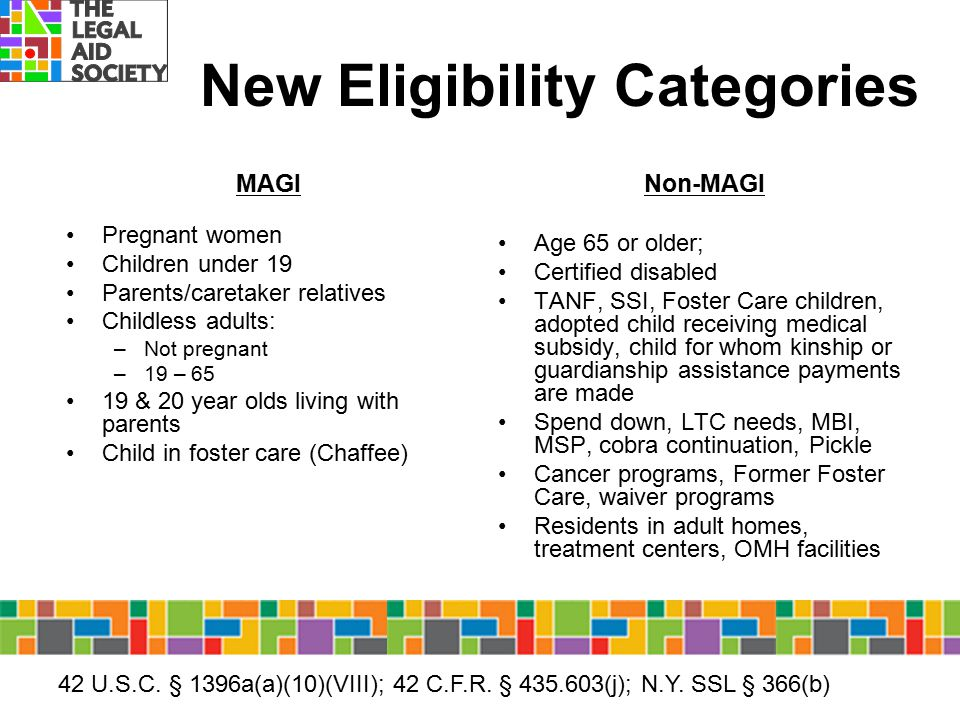New Eligibility Categories