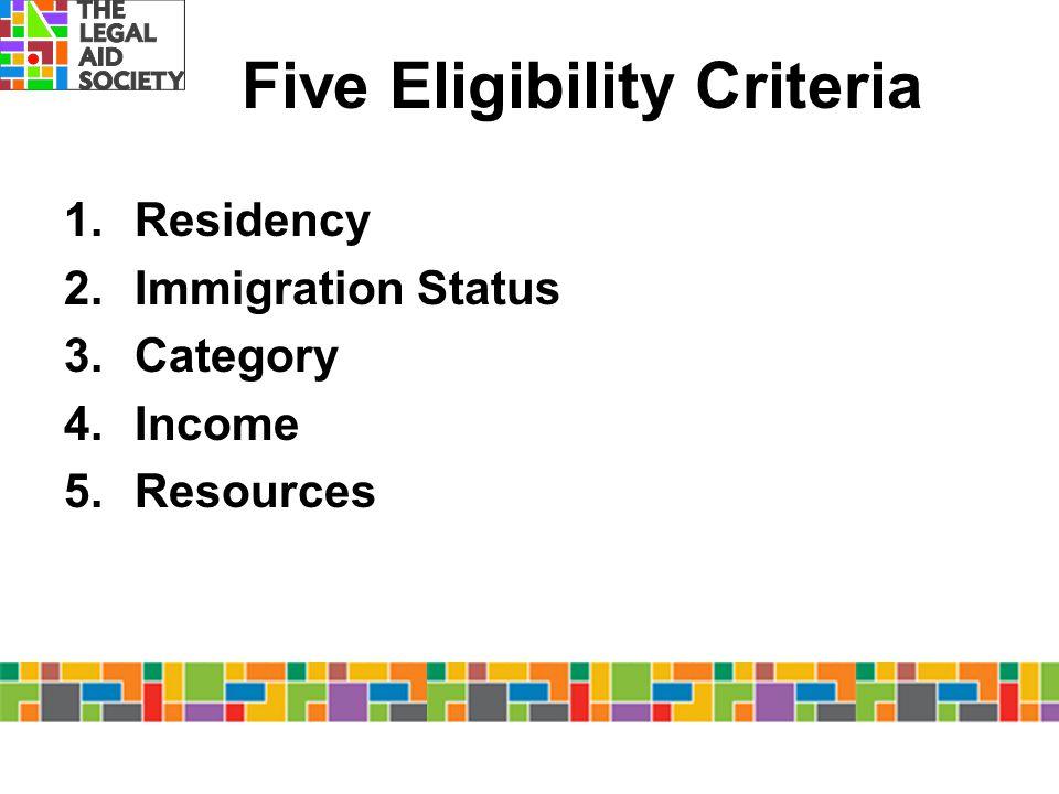 Five Eligibility Criteria