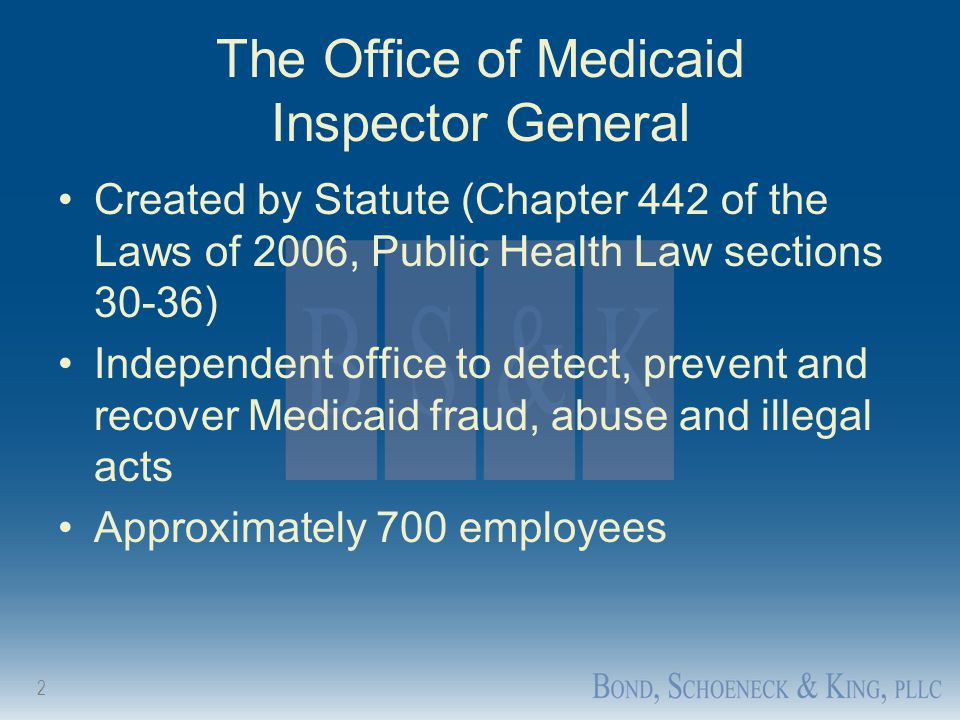 The Office of Medicaid Inspector General