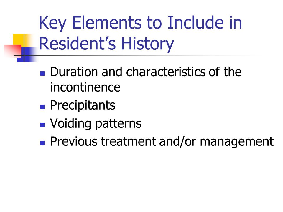 Key Elements to Include in Resident's History