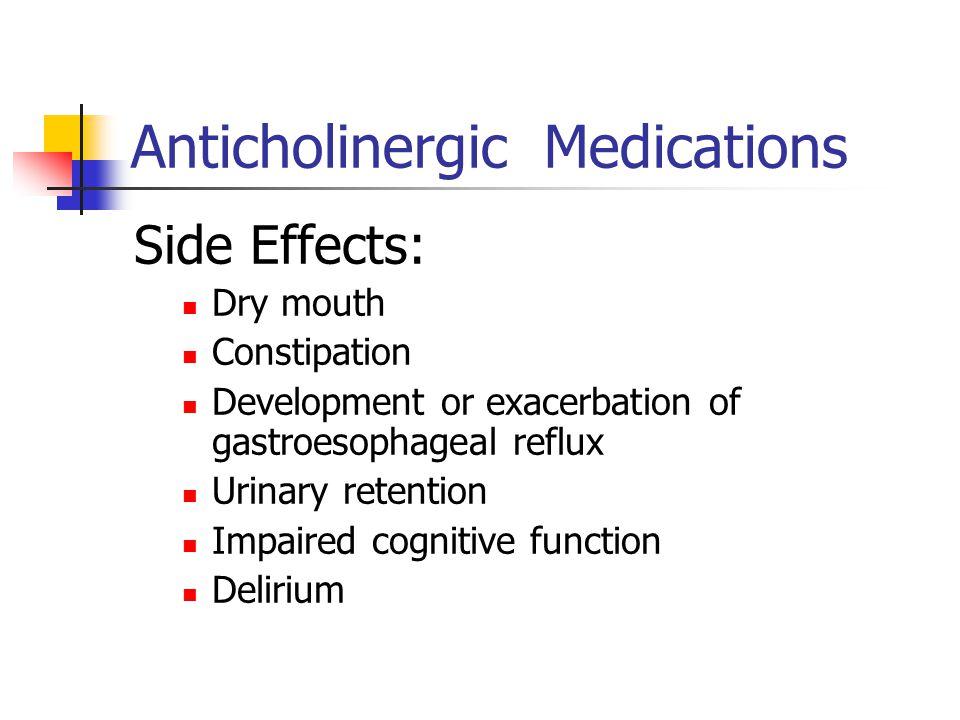Anticholinergic Medications