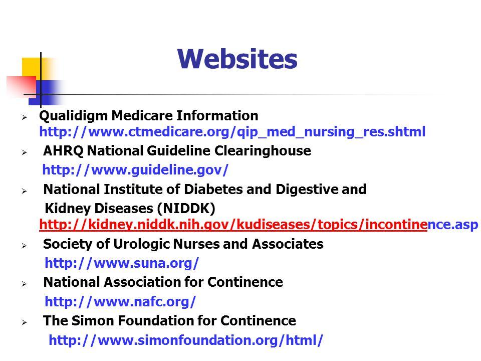 Websites Qualidigm Medicare Information http://www.ctmedicare.org/qip_med_nursing_res.shtml.