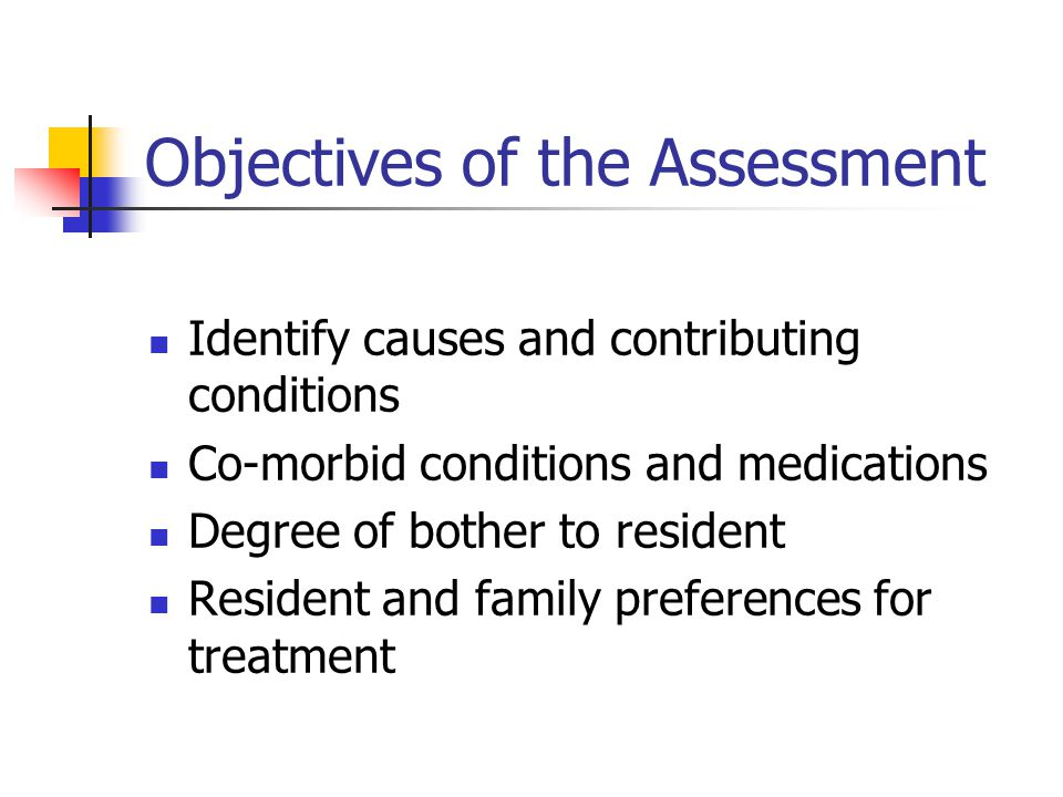 Objectives of the Assessment