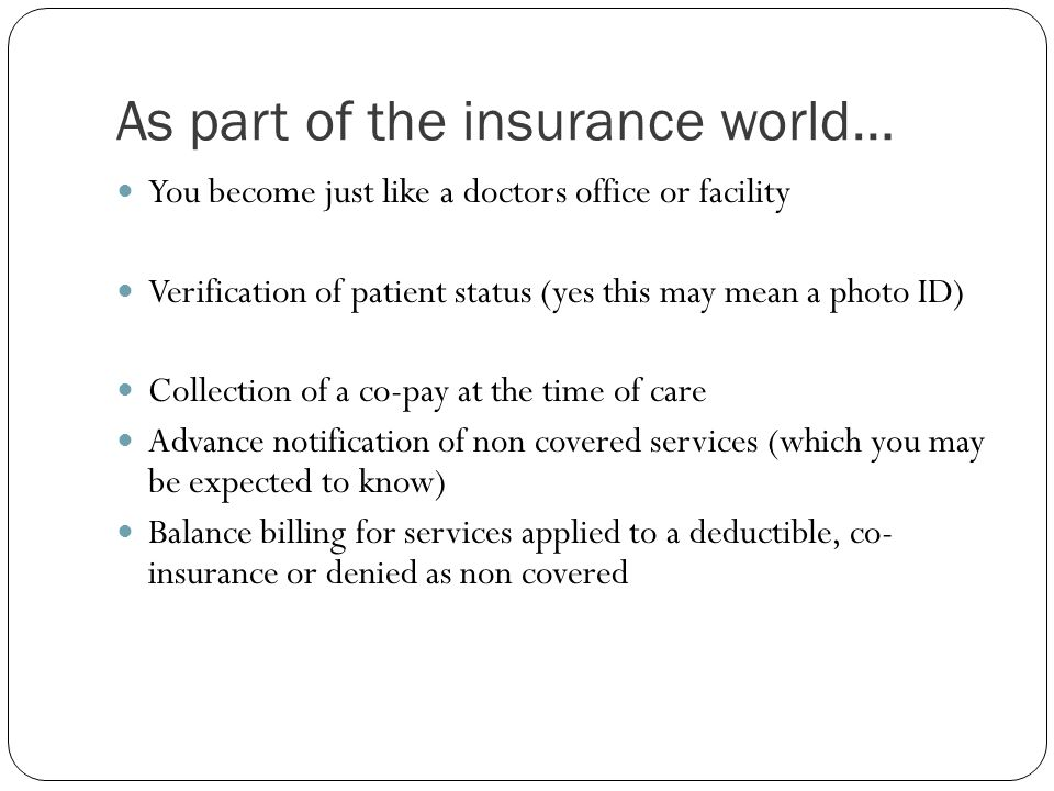As part of the insurance world…