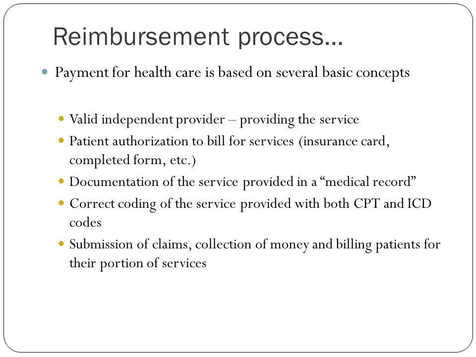 Reimbursement process…