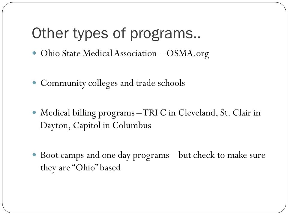 Other types of programs..